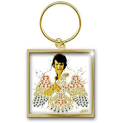 Elvis Presley King of Rock n Roll porte-clés sous licence