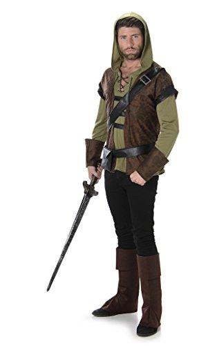 Folat B.V. Disfraz para Adultos de la película «Robin Hood: príncipe de los Ladrones», de Estilo Medieval y Adecuado para el Día del Libro