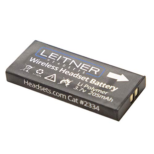 Genuine Leitner Replacement Battery. Works with All OfficeAlly Wireless Telephone Headsets