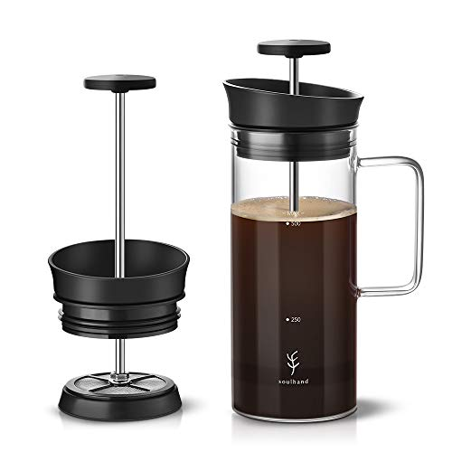 Soulhand French Press Coffee Maker Coffee Press with Micro-Filter...
