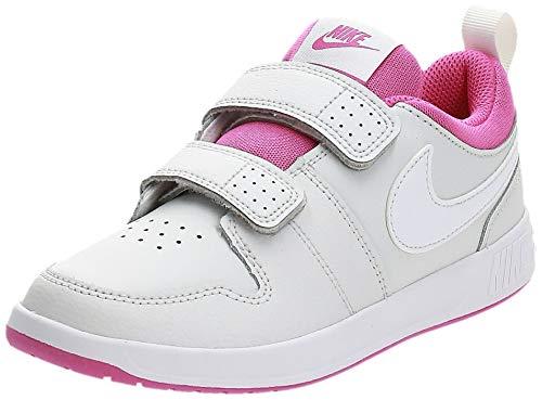 Nike Unisex-Child Pico 5 (PSV) Sneaker, Platinum Tint/White-Active Fuchsia, 33 EU