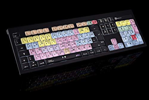 LogicKeyboard LKB-PT-AMBH-DE Tastatur, Avid Pro Tools Astra BL, Deutsch Mac schwarz/bunt