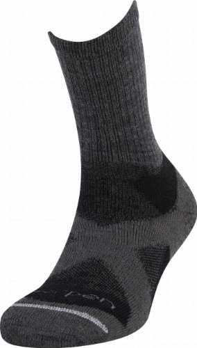 Lorpen Herren Tri-Layer Midweight Hiker Crew Socken (Anthrazit, Large)