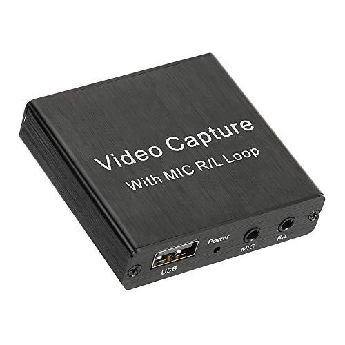 gostcai Coche de Captura de Video 1080P / 30Hz 4k, Tarjeta de Captura de Video HDMI USB2.0, Compatible con Profundidad de Color de 8/10/12 bits, Compatible con VLC/OBS/Amcap/Windows/Android/OS X.