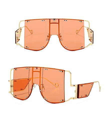 Punk-Style Metal Frame Damen Sonnenbrille European & American Street Sonnenbrille, Pink