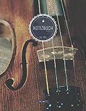 ZMUDACE Notizbuch Blanko: in DIN A4 Softcover | 'ZB117 Geige' |156 leere Seiten mit persönlichem Register + Seitenzahlen | Zeichenbuch, Skizzenbuch, Blankobuch, Malbuch, Notizheft zum...