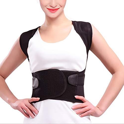 LSRRYD Faja Lumbar de la Cintura para Aliviar Corrector de Postura y Rehabilitación de Dolor y Lesiones Doble Ajuste Hombre Mujer (Size : XXL)