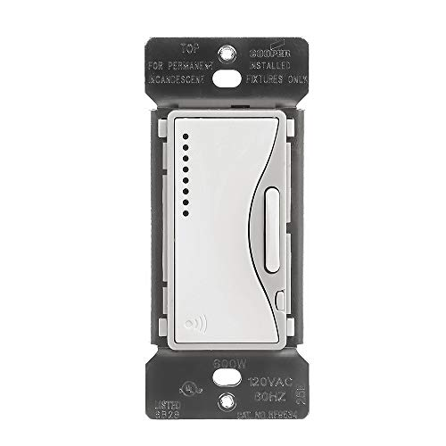 Eaton RF9534WS ASPIRE 600 W RF Incandescente/MLV Smart Dimmer, blanco satinado