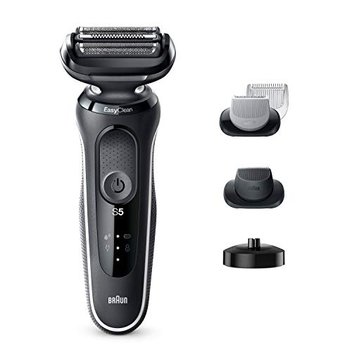 Braun Electric Razor for Men, Series 5 5050cs Electric Shaver with Precision Trimmer, Body Groomer, Rechargeable, Wet & Dry Foil Shaver with EasyClean and Charging Stand