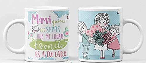 Clapper Taza Dia de la Madre Regalo para mamá. Taza mamá y niños