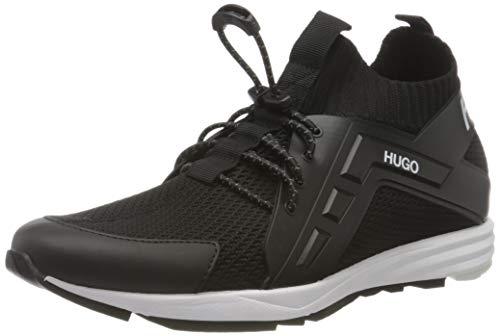 HUGO Hybrid_Runn_kncg, Herren Sneaker, Black1, 43 EU (9 UK)
