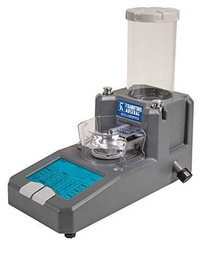 Frankford Arsenal Intellidropper Electronic Powder Measure for Powder Measuring with LCD Display and Free Reloading Database App for iPhone, Windows, and Google
