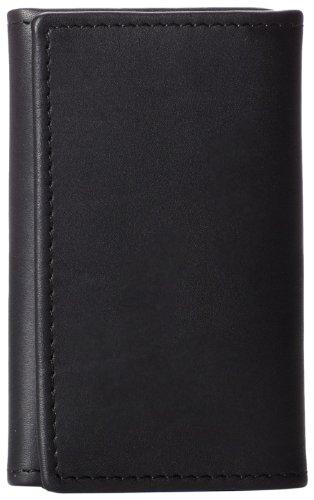 Dopp Men's Regatta Leather tainer W/Detachable Outside Key Ring, black, One Size