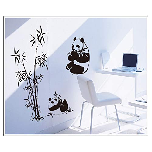 FOMBV Muursticker Panda muur stickers bamboe woonkamer TV bank verwijderbare muur sticker voor thuis muur sticker kunst