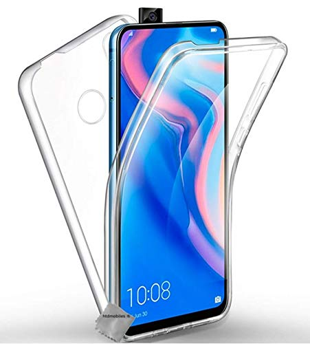 htdmobiles Housse Etui Coque Silicone Gel 360 integrale Huawei Honor 9X + Film ecran - Transparent