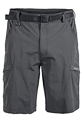 Mr.Stream Men's Hiking Loose Quick Drying Outdoor Fitness Sports Active Cargo Multi Pocket Shorts L Gray