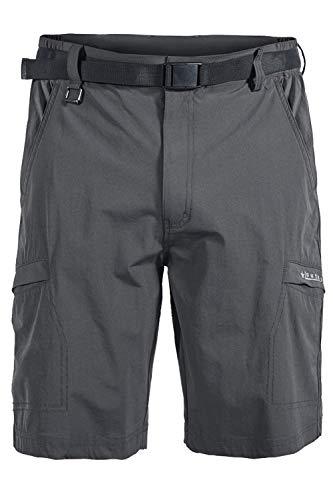 Mr.Stream Pantalones Cortos Múltiples Bolsillos para Hombre Senderismo Acampada para elástico Deportivo de Secado rápido Ligero Carga Casuales S Gray