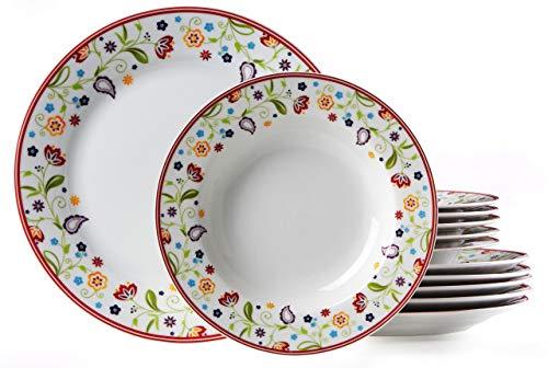 Ritzenhoff & Breker Tafelservice Doppio Shanti, 12-teilig, Porzellangeschirr