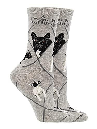 WHD French Bulldog Socks (Gray, Medium)