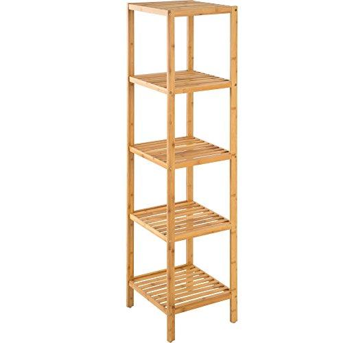 TecTake Standregal Haushaltsregal Badregal Holz - Diverse Modelle - (5 Böden | 33x33x141 cm | Nr. 401646)