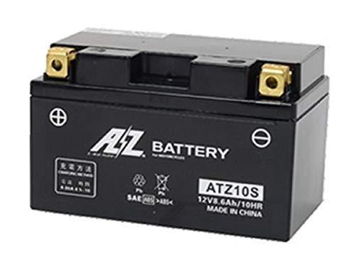 AZ [ エーゼット ] シールド型 バイク用バッテリー [ 液入充電済 ] ATZ10S