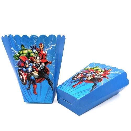 The Party Supplies Decoraties Kinderen Verjaardag Wegwerp Tafelkleed Cups Superhero Party Thema Favors Jongen Set Taart Topper 6st