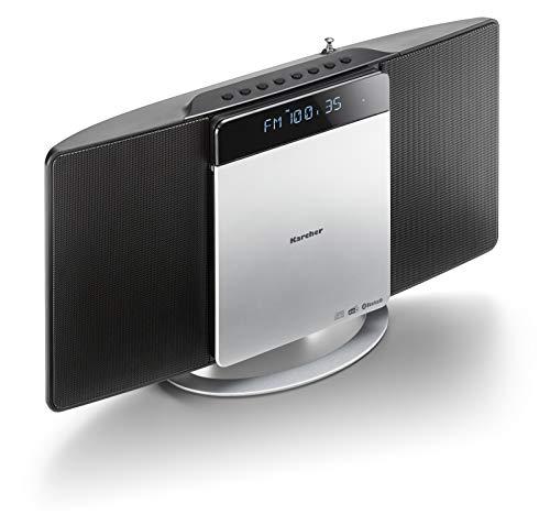 Karcher MC 6580D Kompaktanlage (mit CD Player, vertikale Stereoanlage, Bluetooth und Wecker, UKW und DAB+ Radio, Senderspeicher, MP3-Wiedergabe via USB) schwarz