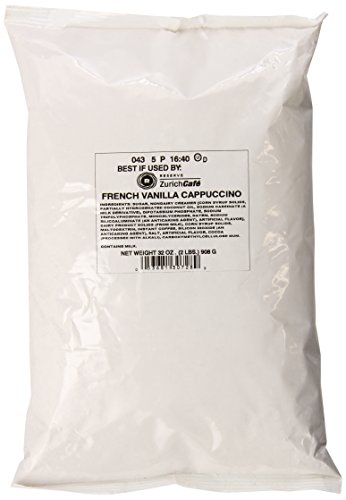 Zurich Cafe French Vanilla Cappuccino, 2 Pound Bag (Pack of 6)