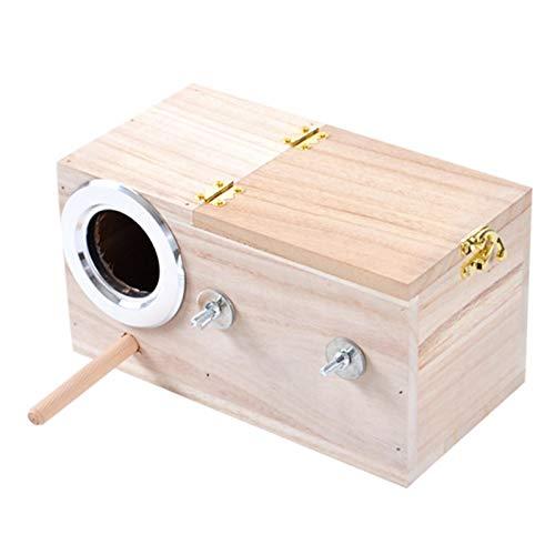 perfecti Vogel Nistkasten Aus Holz, Vogelhäuschen Sittich Wellensittich Kanarienvogel Zucht Box, Vogel Schachteln Feeding Station House Vogelhaus(S/M/L)