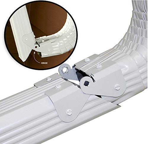 Zip Hinge - 2 Pack - Downspout Extension Gutter Hinge - Fits 2x3, 3x4, 5 inch, 6 inch - Universal Fit - Made in The USA