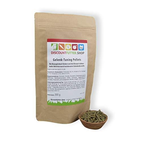 discountfutter.shop Gelenk-Tuning Pellets für Hunde (300 g) mit Glukosamin, Chondroitin und Hyaluronsäure