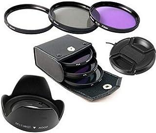 eWINNER 55mm UV CPL FLD Filter Set with Lens cap Lens Hood for digital camera canon nikon pentax sony camera