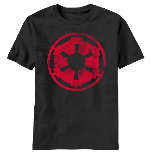 Mad Engine Star Wars Aging Empire Symbol T-Shirt (Medium, Black)