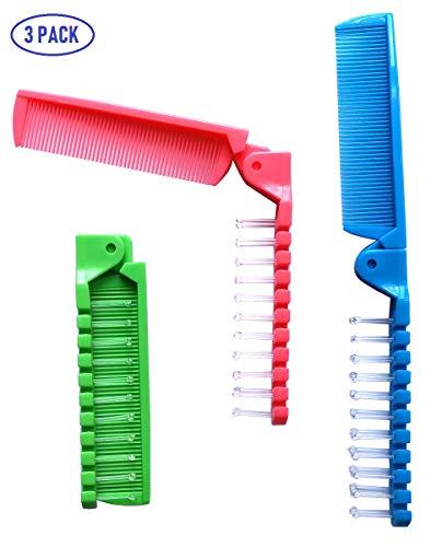 Fontee® 3 piezas pequeño plegable cepillo pelo