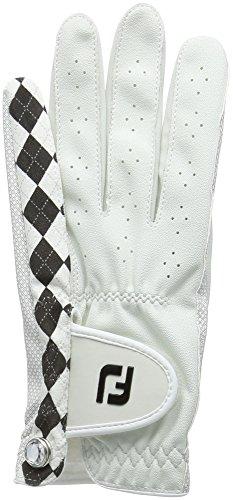 Footjoy FJ Attitudes–Golf-Handschuh für Linkshänder, Damen, Perla/Negro, Izquierda - L