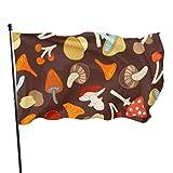 Florasun - Bandera de setas decorativas para fiestas, 3 x 5 pies, colores vibrantes, poliéster de calidad y ojales de latón