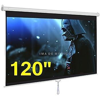 "IMAdeMexico Pantalla de Proyeccion Manual 120"" (120 Pulgadas - 3.05 Metros) Formato HD 16:9 Gain 1.3 HD-3D Ready"