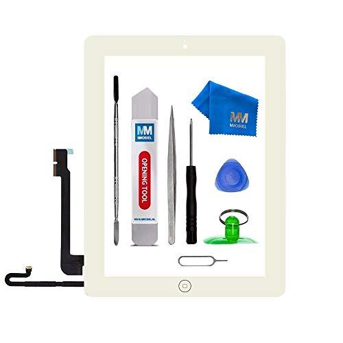 MMOBIEL Digitizer kompatibel mit iPad 4 (Weiss) 9.7 Inch 2012 Touchscreen Front Display Ersatz inkl Werkzeug
