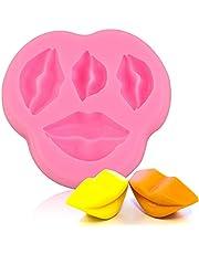 Chokladformar Silikon Fondant Godisform Hemmagjord tecknad kakform mögel Dekoration Kyss läppar Form Bakverktyg för festbröllop (rosa)
