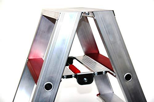 Mülltonnenbox Metall, Modell Eleganza Line mit Pflanzwanne, für eine 240 Liter Tonne in Weiß - 3