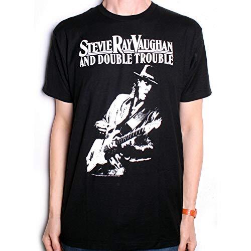 Stevie Ray Vaughan T Shirt - Live Alive 100% US Import Blues 2XL Black