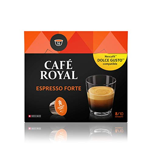 Café Royal Espresso Forte 48 Nescafé Dolce Gusto kompatible Kapseln (Intensität 8/10) 3er Pack (3 x 16 Kaffeekapseln)