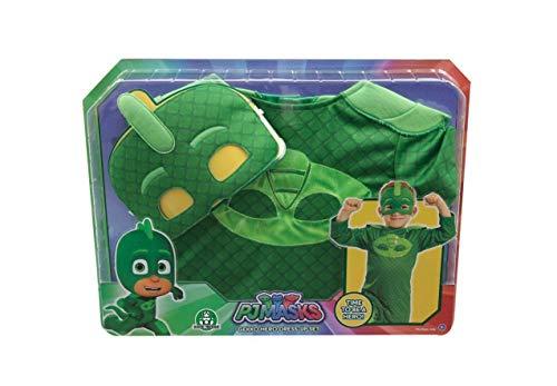 Giochi Preziosi PJ Masks PJM075 Traje de fantasía para niños - Trajes de fantasía para niños (Disfraz, Dibujos Animados, Niño/niña, Verde, 3 año(s), China)