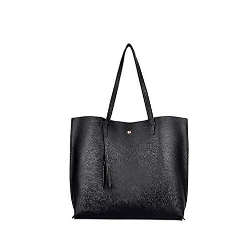 LJX Frauenhandtasche, große Kapazität Frauen PU-Leder Clemence beiläufige Handtasche, verwendbar für regelmäßige Datierung, Arbeit, Kurze Reisen,C