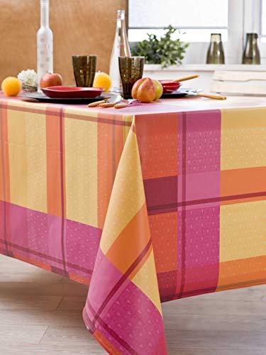 Nydel Inla EW358533813 tafelkleed, vuilafstotend, PVC-coating, vierkant, 160 x 160 cm, framboosrood