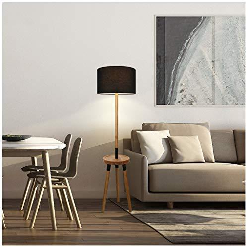 QTDH Moderna trapkap met tafel van hout, woonkamer van massief hout, palen, hoge staande lamp van voet, gemakkelijk te plaatsen voor kantoor, slaapkamer, woonkamer