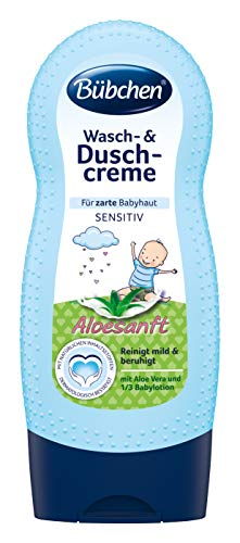 Bübchen Wasch- und Duschcreme Aloesanft, sensitive Duschcreme für zarte Babyhaut, mit Aloe vera und 1/3 Babylotion, Menge: 1 x 230 ml