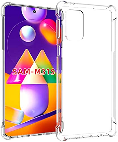 Tarkan Shock Proof Protective Soft Back Case Cover For Samsung Galaxy M31s Transparent Bumper Corners With Air Cushion Technology