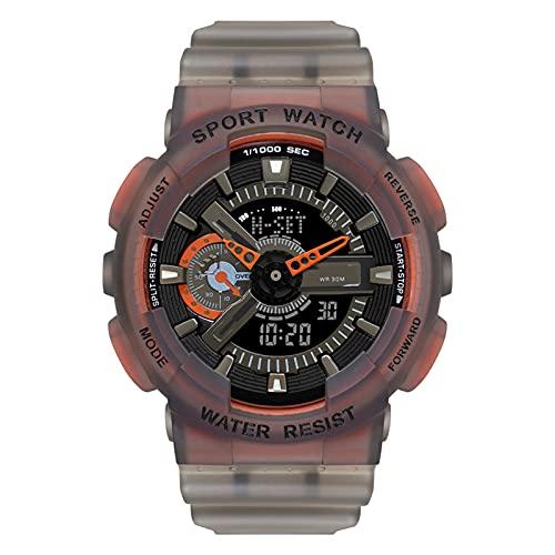 WTYU Hombre Relojes Reloj Deportivo para Hombres, Al Aire Libre Que Corre 3atm Relojes Militares Impermeables con Luz De Fondo LED, Alarma, Reloj De Calendario para Hombr C
