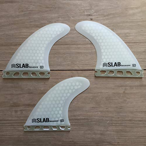 Slab-Surf Fins Thruster hexacore Full White Futures Talla M